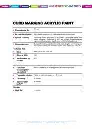 CURB MARKING ACRYLIC PAINT - Tambour Paints