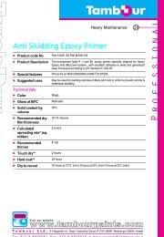 Anti Skidding Epoxy Primer - Tambour Paints
