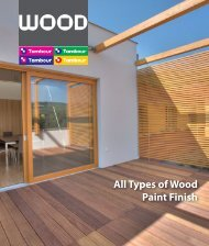 All Types of Wood Paint Finish - Tambour Paints