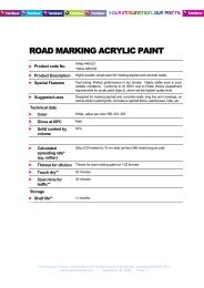 ROAD MARKING ACRYLIC PAINT - Tambour Paints