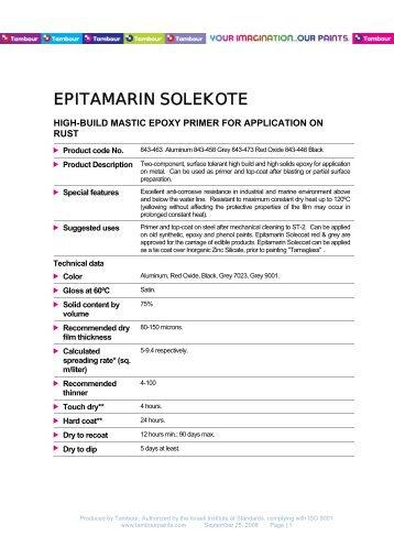 EPITAMARIN SOLEKOTE - Tambour Paints
