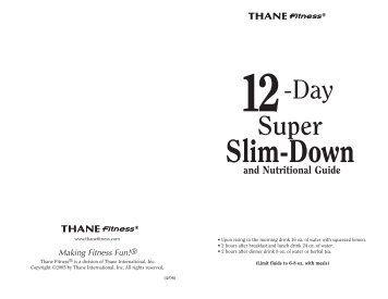 12 Day Slim Down Guide in - Thane