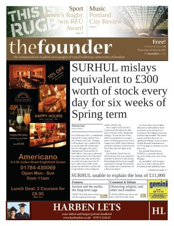 The Founder Volume 5 Issue 11