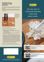 The eASy WAy TO CLeAn And MAInTAIn yOUR OILed WOOd ...