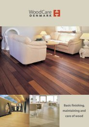 Basic finishing, maintaining and care of wood - Solid Wood Flooring ...