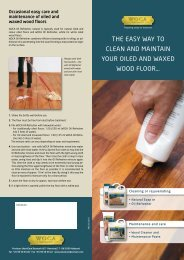The eASy WAy TO CLeAn And MAInTAIn yOUR OILed And WAxed ...