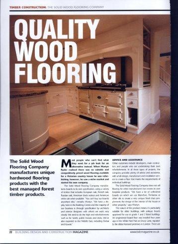 UALITY oon - Solid Wood Flooring Company