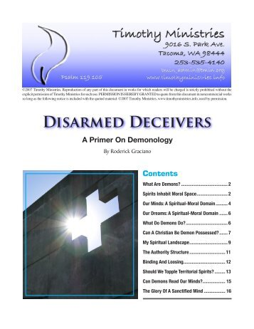 DiSARMEd DEcEivERS - Timothy Ministries