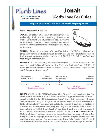 Plumblines Notes.pm65 - Timothy Ministries