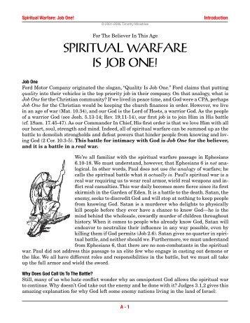 Spiritual Warfare Syllabus: Section A - Timothy Ministries