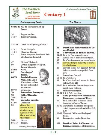 The Christian Centuries Time Line - Timothy Ministries