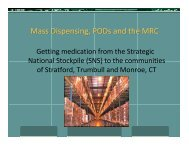 Mass Dispensing, PODs and the MRC - Town of Stratford