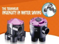 Water bills too high? A water saving valve with results