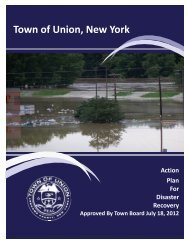 Town of Union Disaster Recovery Plan