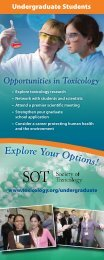 Explore Your Option s! - Society of Toxicology