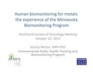Human biomonitoring for metals - Society of Toxicology