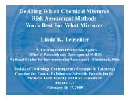 Deciding Which Chemical Mixtures Risk Assessment Methods Work ...
