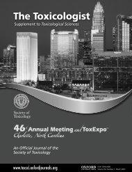 The Toxicologist - Society of Toxicology