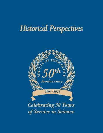 Historical Perspectives - Society of Toxicology