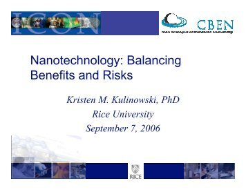 Nanotechnology: Balancing Benefits and Risks
