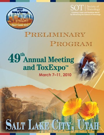 Annual Meeting Preliminary Program - Society of Toxicology