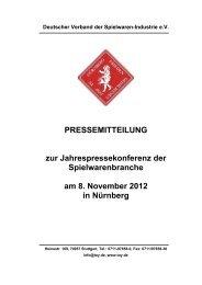 PRESSEMITTEILUNG zur Jahrespressekonferenz der ... - DVSI