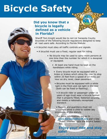 Bicycle Safety Poster.psd - Sarasota County Sheriff's Office