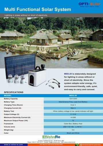 Multi Functional Solar System - E-Volve-Re
