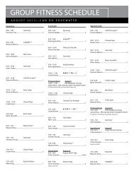 08 AUG Group Fitness Schedule EGW 2012 ... - Can Do Fitness Clubs