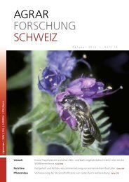 Download als PDF - Agrarforschung Schweiz