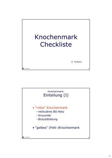 Folien Histokurs Knochenmark
