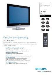 20PFL4122/10 Philips Flat TV met Crystal Clear III - Hardware