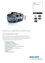 AZ3068/12 PHILIPS CD-soundmachine - Hardware