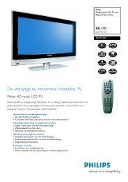 26HF5445/10 Philips Professional LCD-TV met Digital ... - Hardware