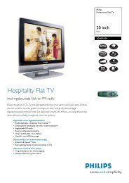 20HF5474/10 Philips Professional Flat TV - Hardware