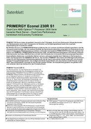 PRIMERGY Econel 230R S1 - Hardware