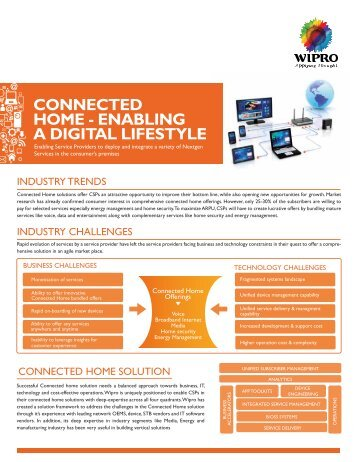 CONNECTED HOME - ENABLING A DIGITAL LIFESTYLE