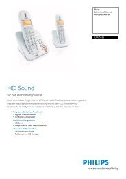 CD2552S/38 Philips Schnurlostelefon mit ... - Hardware