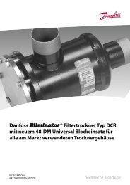 Danfoss Eliminator ® Filtertrockner Typ DCR mit neuem 48-DM ...