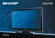 SHARP LCD TV CATALOGUS 2007 - Hardware
