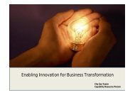 Enabling Innovation for Business Transformation - MPC