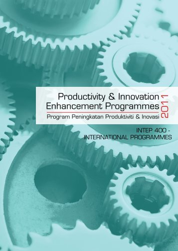 Productivity & Innovation Enhancement Programmes - MPC