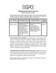Kenyataan Sebut Harga Bil 2/2013 - MPC