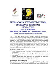 international exposition on team excellence (ietex) 2013 ... - MPC