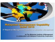 Malaysian Management Capability Index 2010 Malaysian ... - MPC