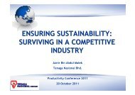 ensuring sustainability: surviving in a competitive industry - MPC