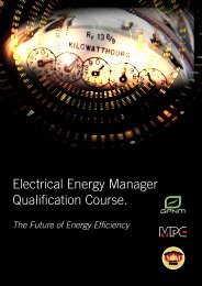 Electrical Energy Manager Qualification Course. - MPC
