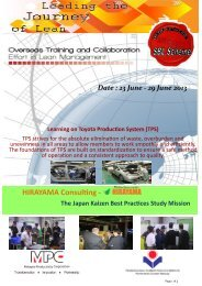 HIRAYAMA Consulting - The Japan Kaizen Best Practices ... - MPC