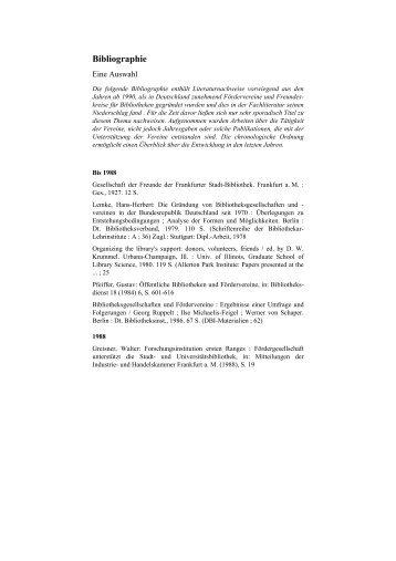 Bibliographie - Deutscher Bibliotheksverband e.V.