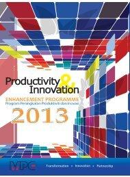 Productivity & Innovation 2013 - MPC